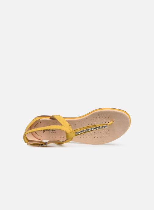 Sandales et nu-pieds Clarks Bay Poppy Jaune vue gauche