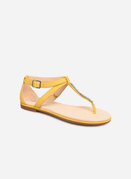 Sandales et nu-pieds Clarks Bay Poppy Jaune vue détail/paire
