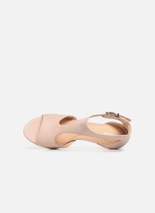 Sandales et nu-pieds Clarks LAURETI STAR Beige vue gauche