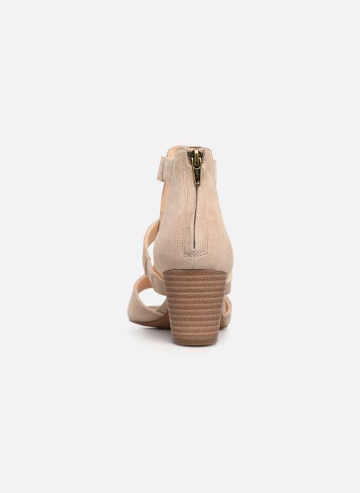 Sandales et nu-pieds Clarks DELORIA FAE Beige vue droite