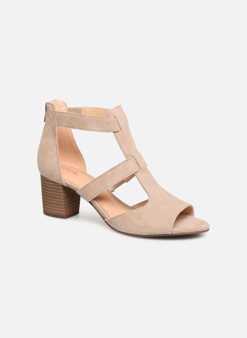 Sandaler Clarks DELORIA FAE Beige detaljeret billede af skoene