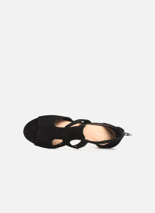 Sandals Clarks DELORIA FAE Black view from the left
