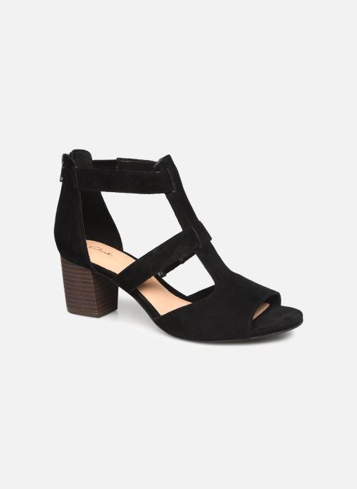 Sandaler Clarks DELORIA FAE Sort detaljeret billede af skoene
