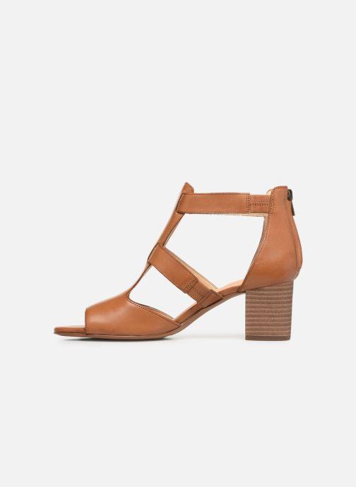 Sandales et nu-pieds Clarks DELORIA FAE Marron vue face