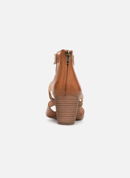Sandales et nu-pieds Clarks DELORIA FAE Marron vue droite