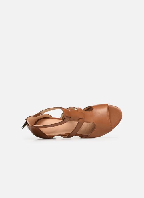 Sandales et nu-pieds Clarks DELORIA FAE Marron vue gauche
