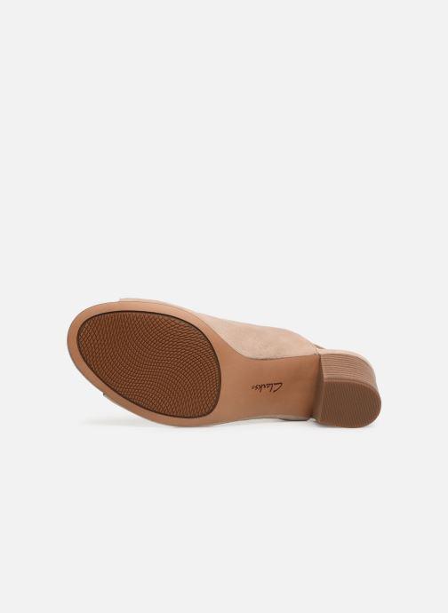 Sandales et nu-pieds Clarks DELORIA GIA Beige vue haut