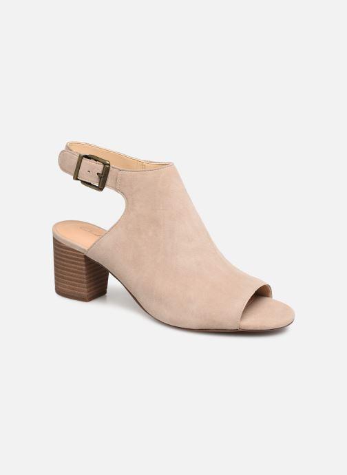 Sandaler Clarks DELORIA GIA Beige detaljeret billede af skoene