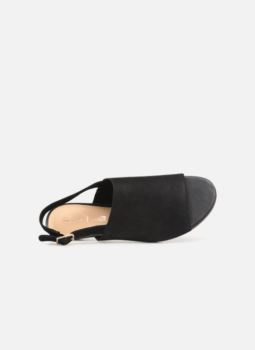 Sandals Clarks MENA LILY Black view from the left