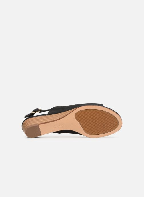 Sandals Clarks MENA LILY Black view from above