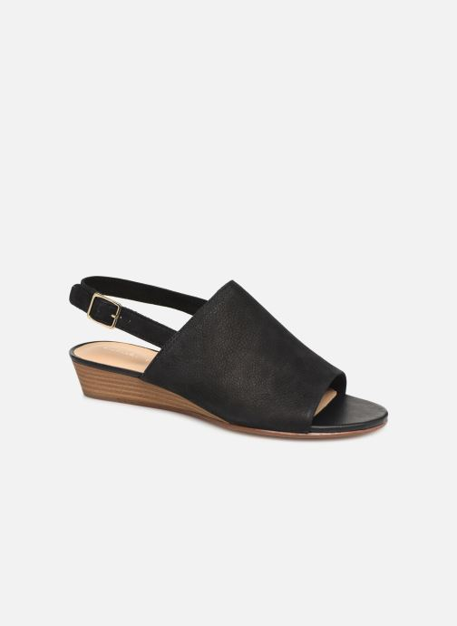 Sandals Clarks MENA LILY Black detailed view/ Pair view