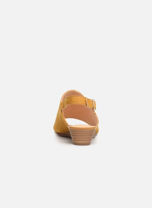 Sandals Clarks MENA LILY Yellow view from the right