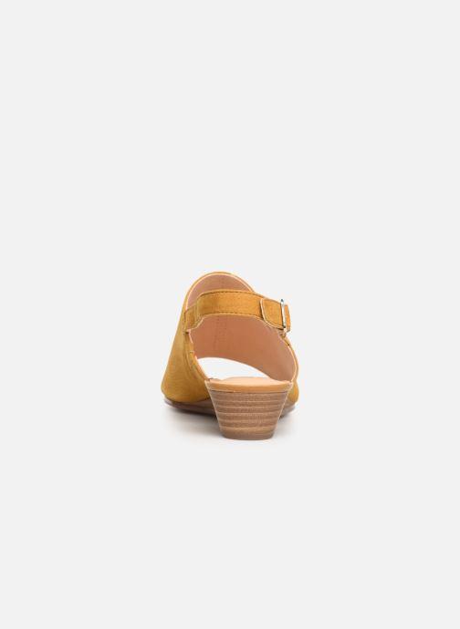 Sandales et nu-pieds Clarks MENA LILY Jaune vue droite