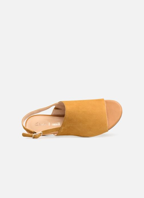 Sandals Clarks MENA LILY Yellow view from the left