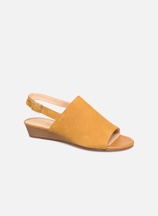 Sandals Clarks MENA LILY Yellow detailed view/ Pair view