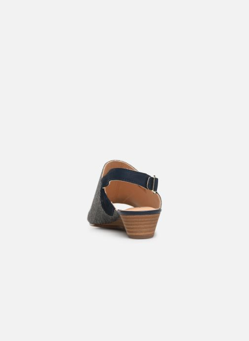 Sandals Clarks MENA LILY Blue view from the right