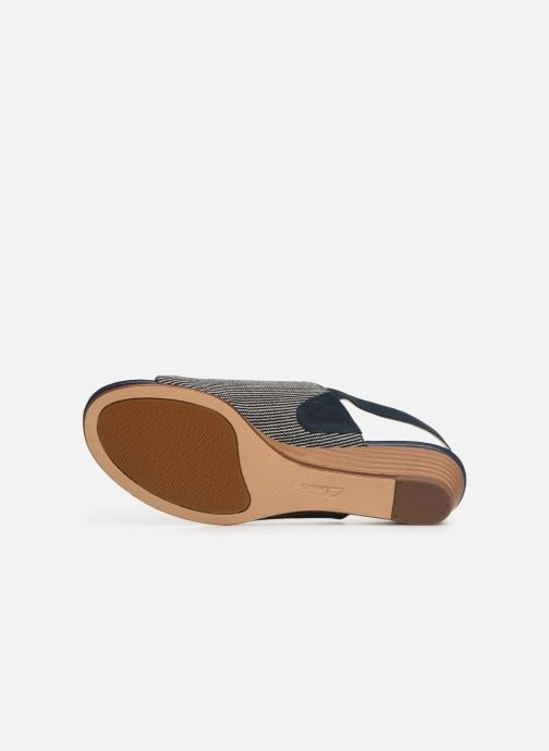 Sandals Clarks MENA LILY Blue view from above
