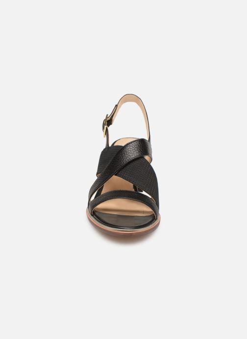 Sandales et nu-pieds Clarks ELLIS TILDA Noir vue portées chaussures
