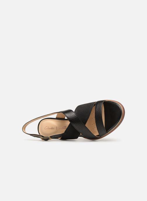 Sandales et nu-pieds Clarks ELLIS TILDA Noir vue gauche