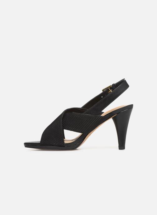 Sandales et nu-pieds Clarks DALIA LOTUS Noir vue face