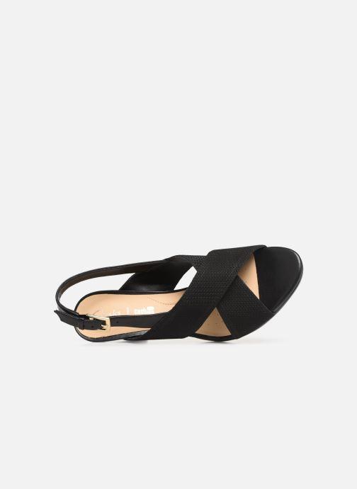 Sandales et nu-pieds Clarks DALIA LOTUS Noir vue gauche
