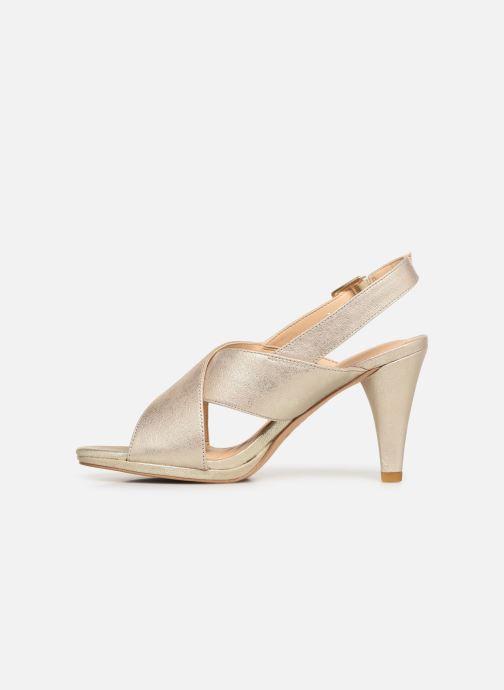 Sandales et nu-pieds Clarks DALIA LOTUS Or et bronze vue face
