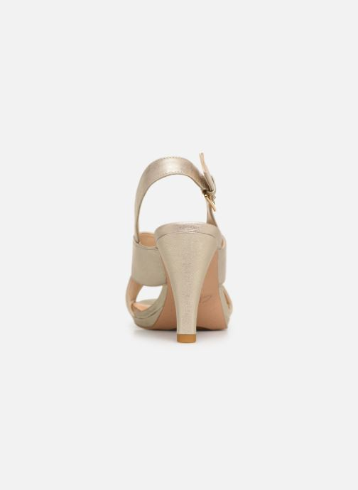 Sandales et nu-pieds Clarks DALIA LOTUS Or et bronze vue droite