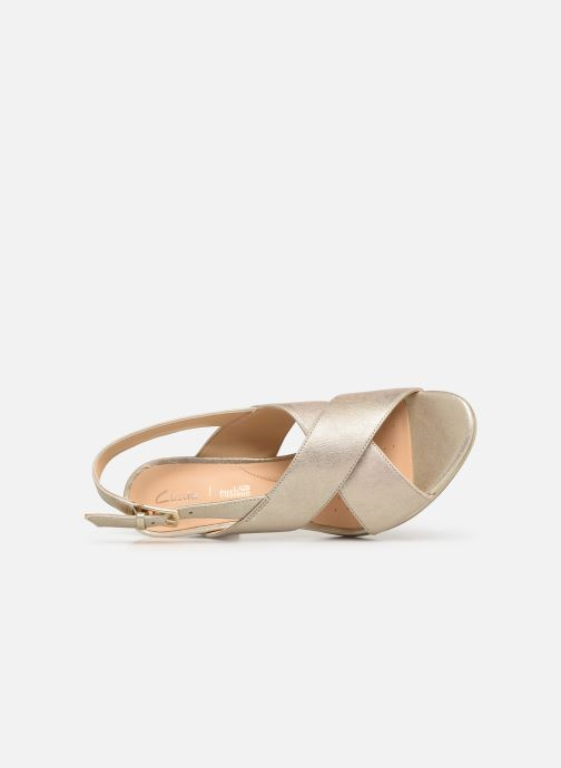 Sandales et nu-pieds Clarks DALIA LOTUS Or et bronze vue gauche