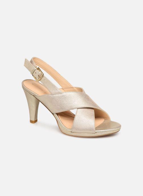 Sandaler Clarks DALIA LOTUS Guld og bronze detaljeret billede af skoene