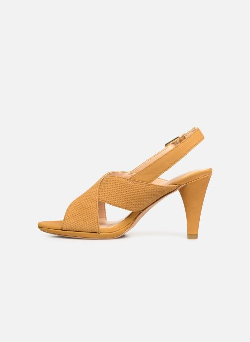 Sandals Clarks DALIA LOTUS Yellow front view