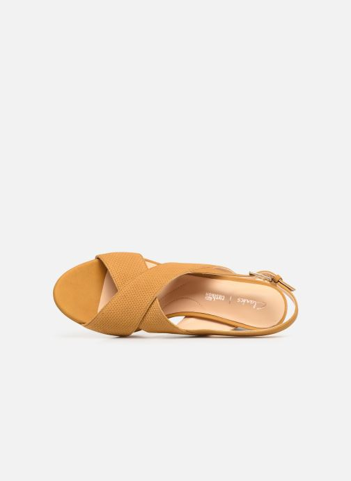 Sandals Clarks DALIA LOTUS Yellow view from the left