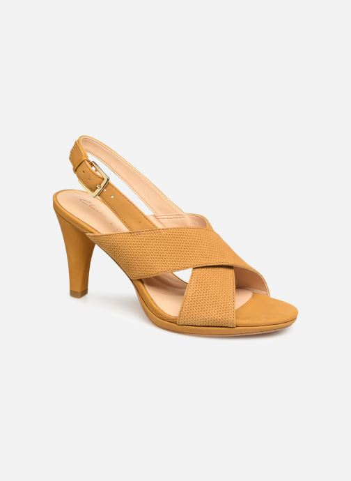 Sandals Clarks DALIA LOTUS Yellow detailed view/ Pair view