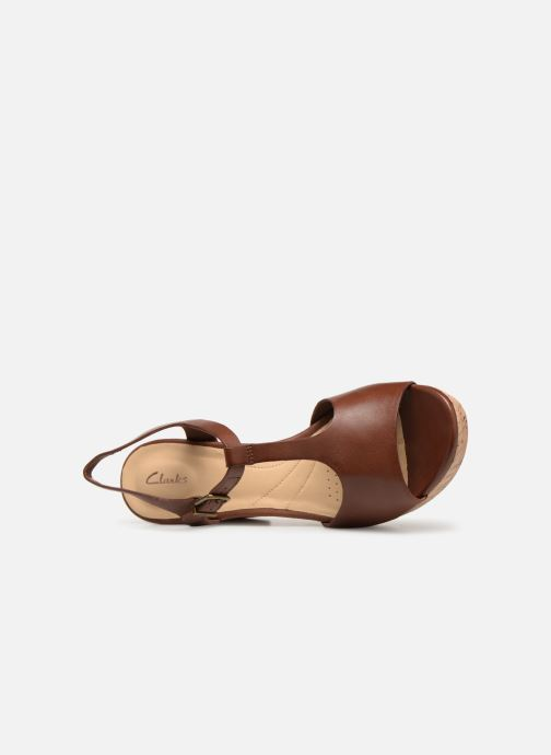 Sandales et nu-pieds Clarks MARITSA CARIE Marron vue gauche