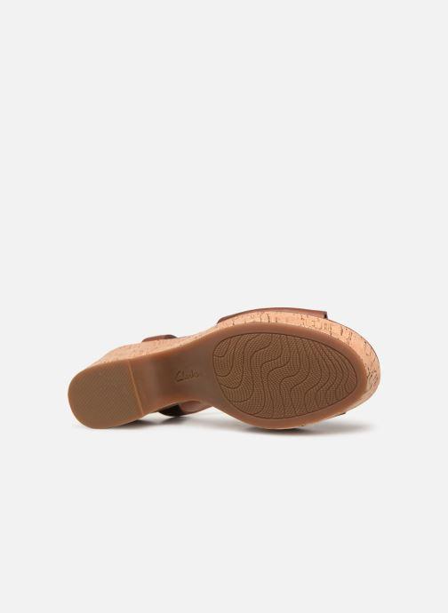Sandales et nu-pieds Clarks MARITSA CARIE Marron vue haut