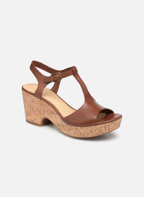Sandales et nu-pieds Clarks MARITSA CARIE Marron vue détail/paire