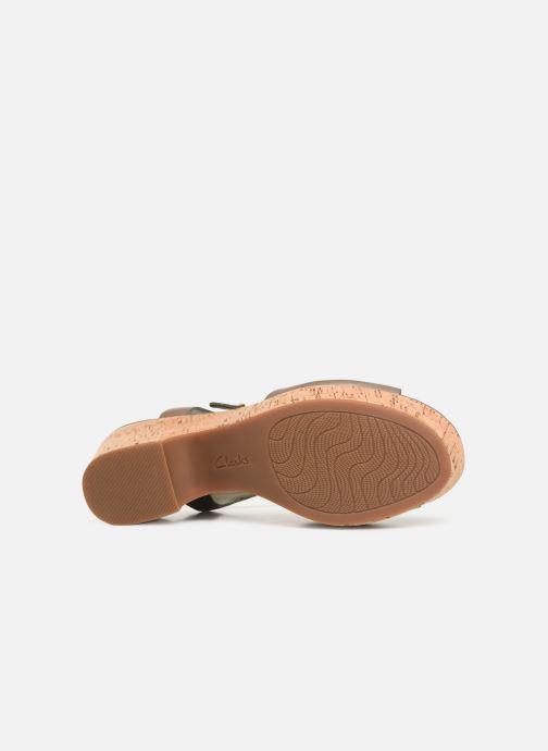 Sandales et nu-pieds Clarks MARITSA CARIE Vert vue haut
