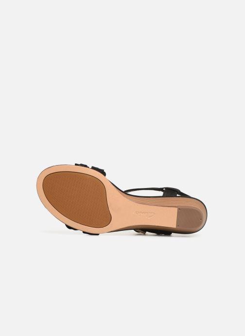 Sandales et nu-pieds Clarks MENA BLOSSOM Noir vue haut