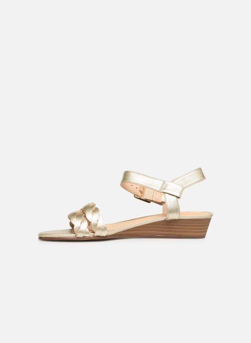 Sandales et nu-pieds Clarks MENA BLOSSOM Or et bronze vue face