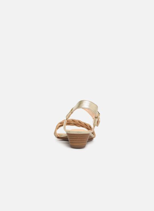 Sandales et nu-pieds Clarks MENA BLOSSOM Or et bronze vue droite