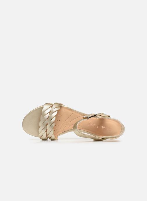 Sandales et nu-pieds Clarks MENA BLOSSOM Or et bronze vue gauche