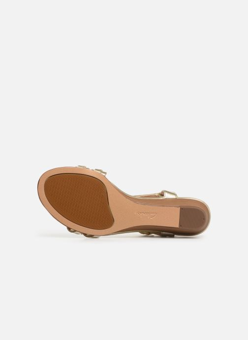 Sandales et nu-pieds Clarks MENA BLOSSOM Or et bronze vue haut