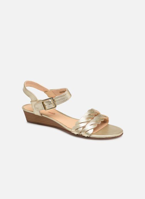 Sandales et nu-pieds Clarks MENA BLOSSOM Or et bronze vue détail/paire