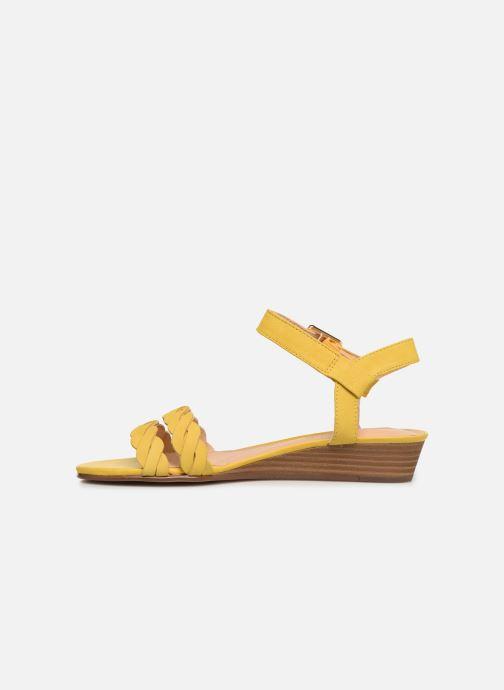 Sandales et nu-pieds Clarks MENA BLOSSOM Jaune vue face