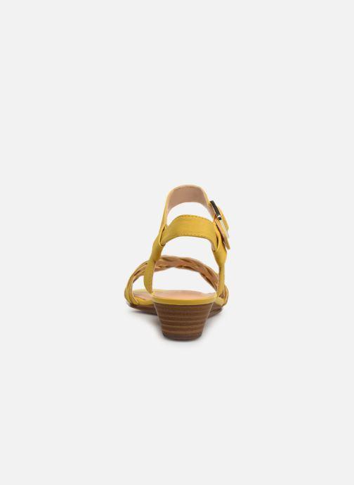 Sandales et nu-pieds Clarks MENA BLOSSOM Jaune vue droite