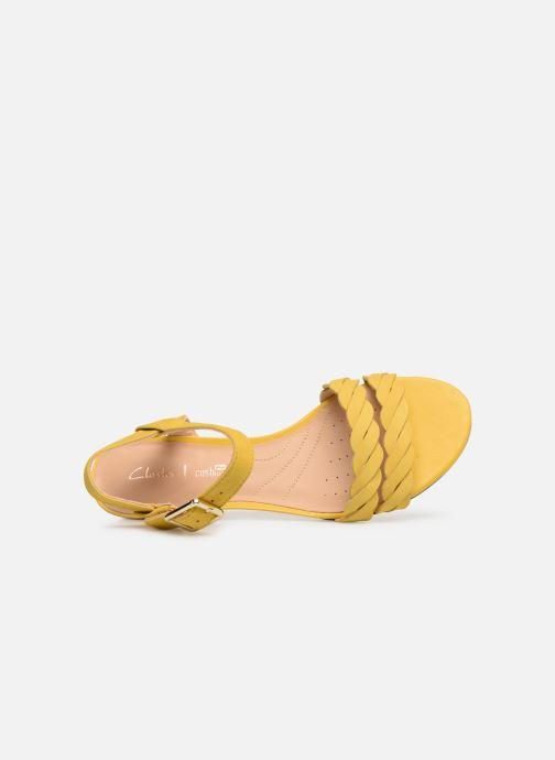 Sandales et nu-pieds Clarks MENA BLOSSOM Jaune vue gauche