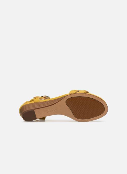 Sandales et nu-pieds Clarks MENA BLOSSOM Jaune vue haut