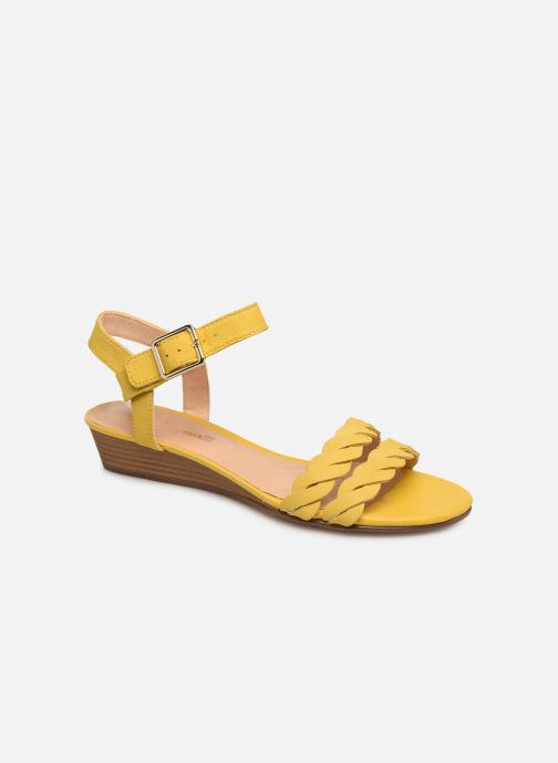 Sandales et nu-pieds Clarks MENA BLOSSOM Jaune vue détail/paire