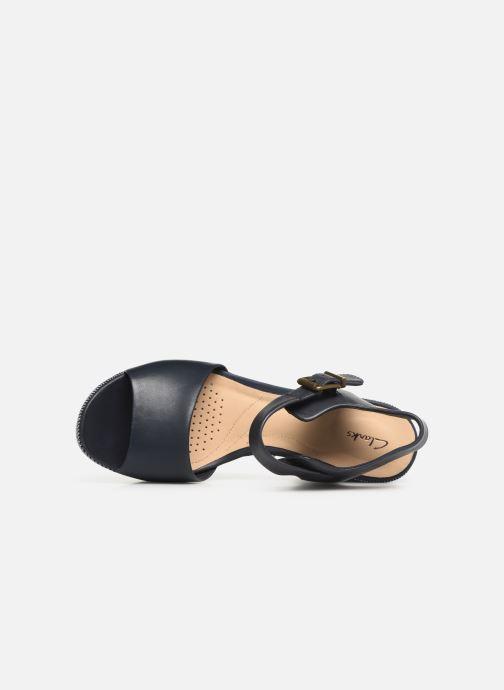 Sandales et nu-pieds Clarks MARITSA JANNA Bleu vue gauche