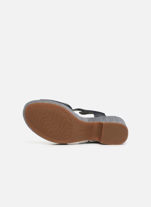 Sandales et nu-pieds Clarks MARITSA JANNA Bleu vue haut