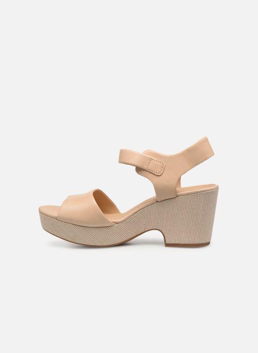 Sandales et nu-pieds Clarks MARITSA JANNA Beige vue face